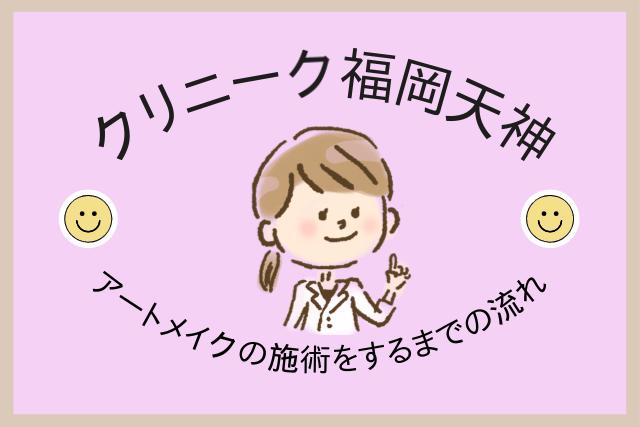 クリニーク福岡天神、アートメイク施術の流れ